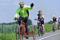 František Vlček, který závod pojede na tricyklu.
