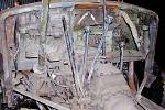 """Prostor kabiny po odstranění poválečné """"boudy"""""""