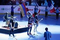 Hokejbalové utkání Mistrovství světa mezi Českou republikou a Švýcarskem v pardubické Tipsport Aréně.