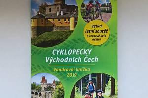 Vandrovní knížky soutěže Cyklopecky pro rok 2019.
