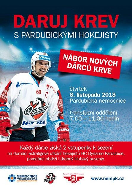 Daruj krev spardubickými hokejisty.