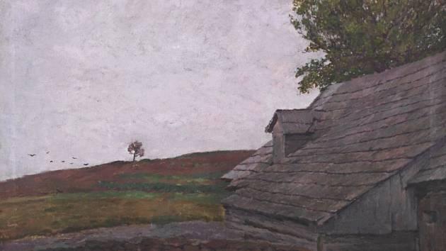 Antonín Slavíček - Motiv z Kameniček, 1903. Olej, plátno.