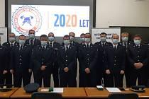 Předání medailí hasičům