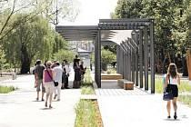 Téměř hotovo. Konečná podoba podzámeckého parku už se začíná rýsovat. Jeho dominantou má být promenáda spojující centrum města a sídliště Polabiny.