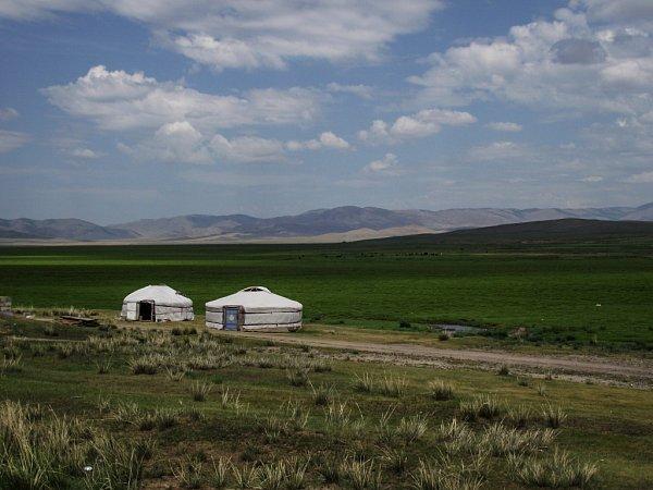 Cesta Jana Kováře Ruskem a Mongolskem 2015.Mogolská krajina.