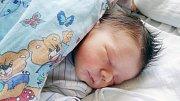 VILÉM BĚHAL se narodil 19. ledna ve 3 hodiny a 11 minut. Měřil 51 centimetrů a vážil 3610 gramů. Rodiče Lucie a Jiří bydlí v Pardubicích.