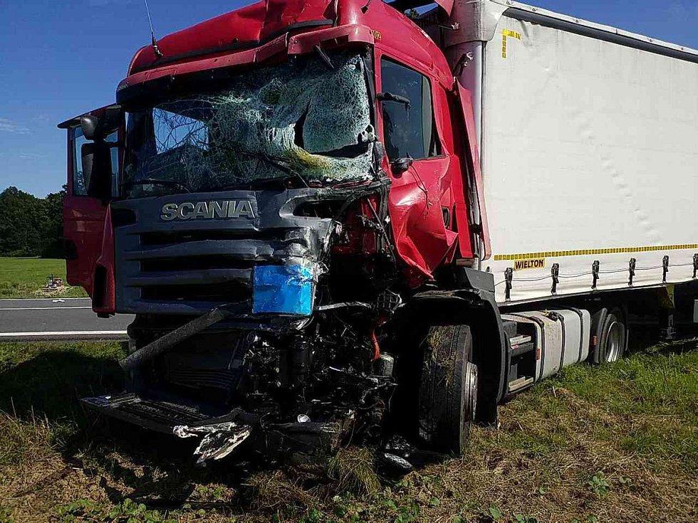 Nehoda u Holic, září 2019