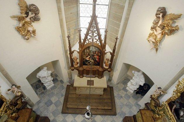 Zrekonstruovaná kaple pardubického zámku