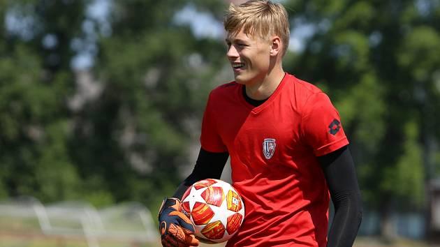Fotbalový brankář Lukáš Horníček.