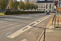 Zrušený přechod pro chodce na Smetanově náměstí v Pardubicích