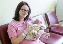 MAREK ŠETINA se narodil 21. ledna v 7 hodin a 25 minut. Měřil 52 centimetrů a vážil 3850 gramů. Maminku Terezu podpořil u porodu tatínek Marek. Rodina bydlí v Přelouči.
