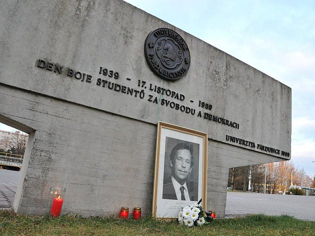Památku Václava Havla uctili také na univerzitě