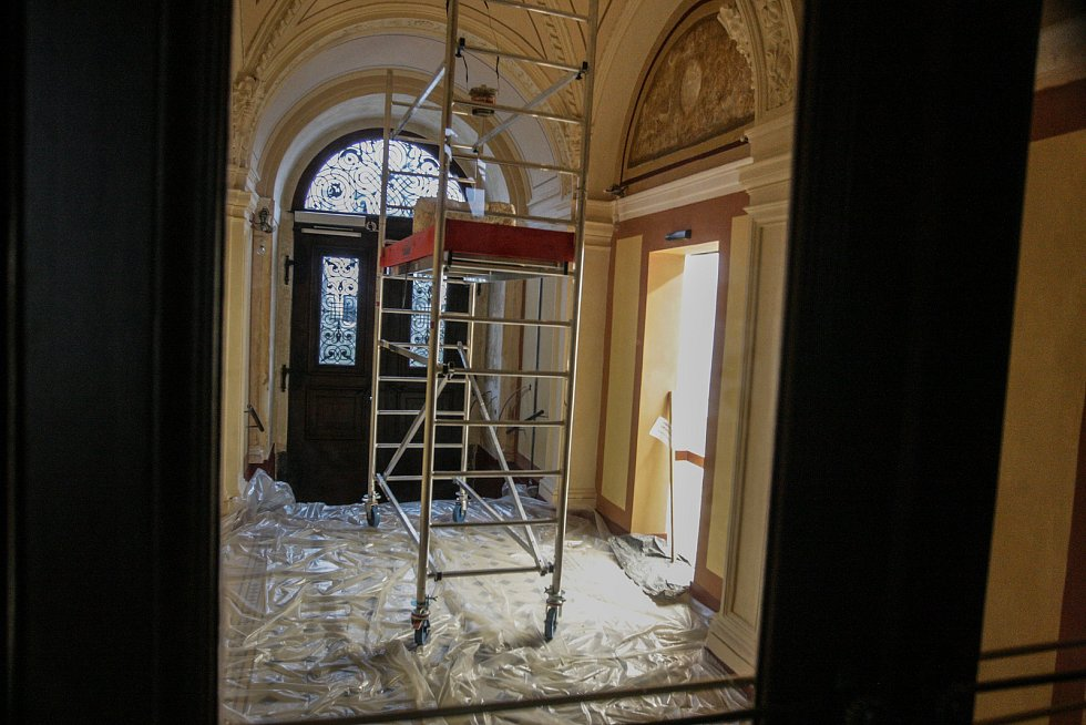 Rekonstrukce pardubické radnice.