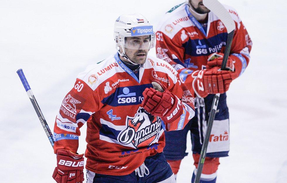 Tomáš Rolinek povede jako kapitán pardubické Dynamo do čtvrtfinále proti třineckým Ocelářům.