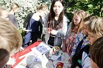 Global village na Základní škole Benešovo náměstí v Pardubicích. Zahraniční učitelé zde představovali své země.