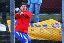 Hod v délce 20,11 metrů vynesl Kateřině Šafránkové nový český rekord v hodu břemenem