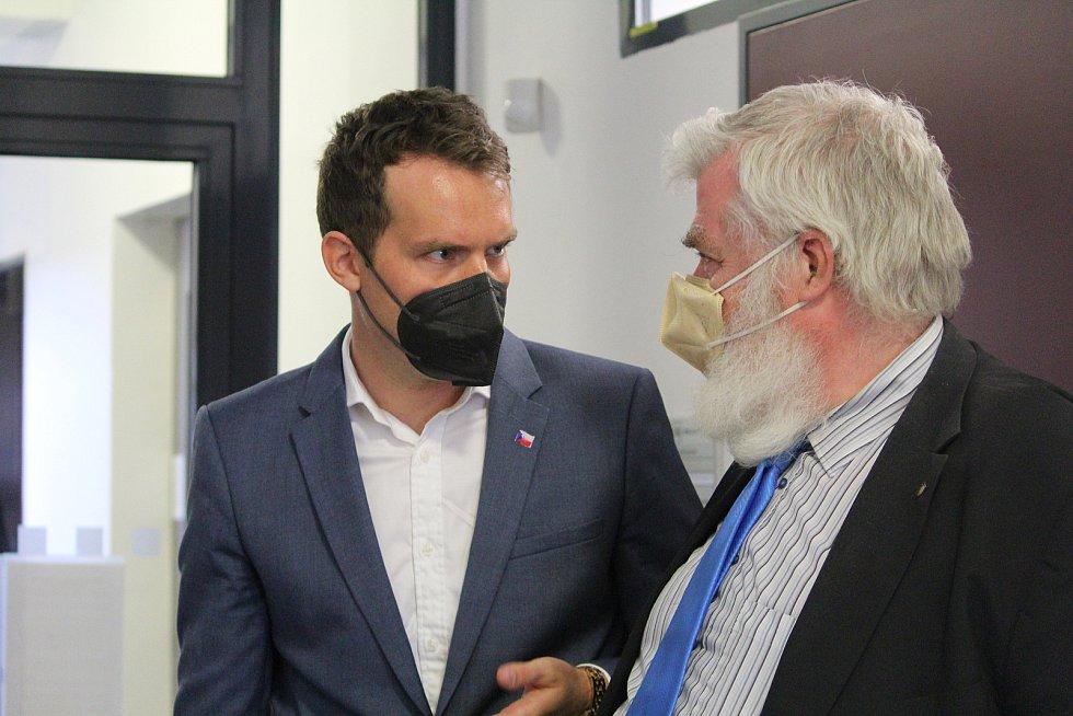 David Horský se svým právním zástupce Radkem Ondrušem.
