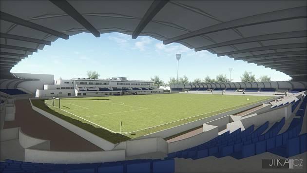 Dřívější vizualizace stadionu.