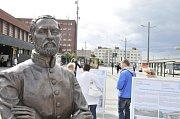 Pardubice oslavily výročí narození stavitele železnic Jana Pernera.
