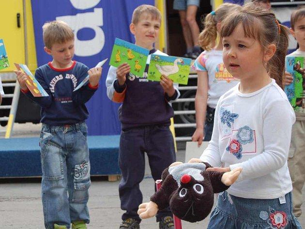 Vystoupení obstaraly děti z mateřské školky.