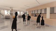 Návrh obnovení a oživení stávajícího interiéru stavby, která je ukázkou architektury osmdesátých let.