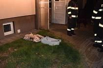 Požár radiátoru.