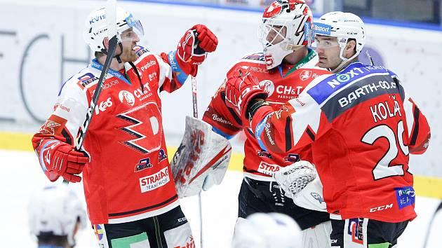 Generali play off Tipsport extraligy - osmifinále: HC Dynamo Pardubice - HC Energie Karlovy Vary.