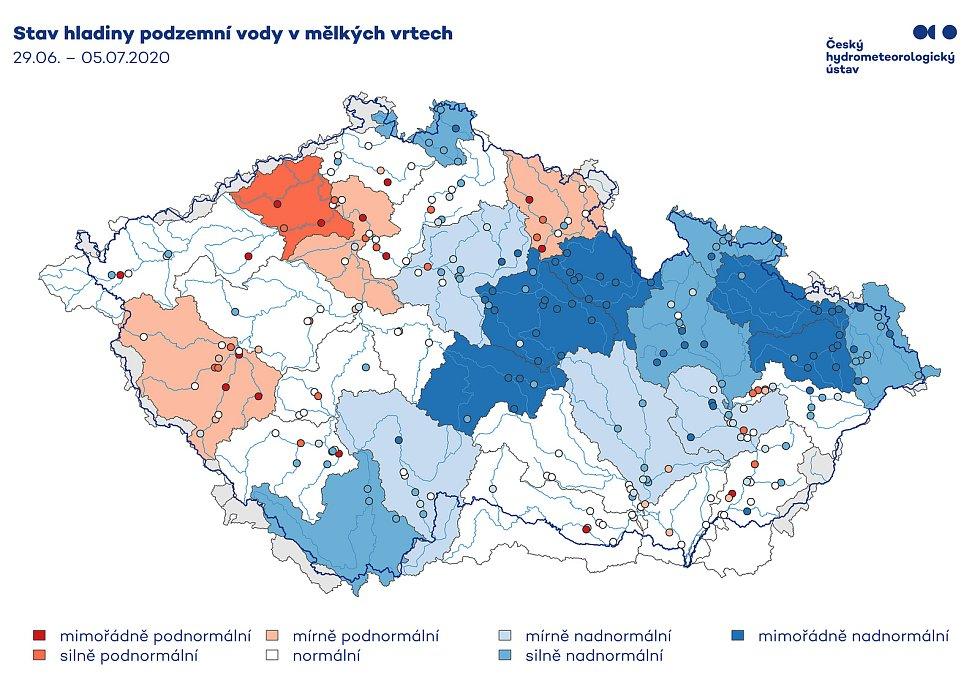 Stav podzemních vod - Pardubický kraj je na tom nyní nejlépe z celé země.