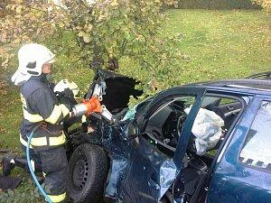 Vážná nehoda ve Vysoké u Holic