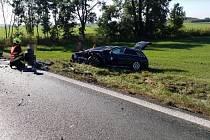 Vážná nehoda v Býšti.