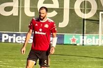 Fotbalista Vratislav Lokvenc v dresu FC Libišany.
