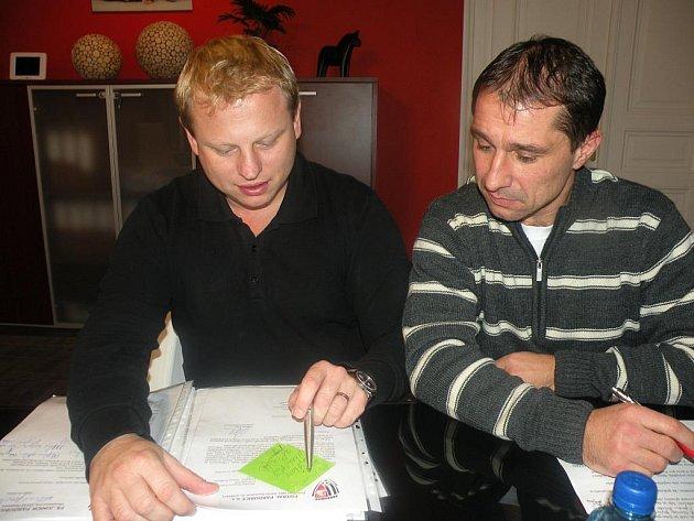 Zleva Vladimír Pitter a Vít Zavřel – nejvyšší představitelé FK Pardubice