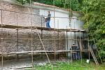 Opevnění pardubického zámku.