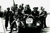 Partyzáni v Pardubicích. Květen 1945