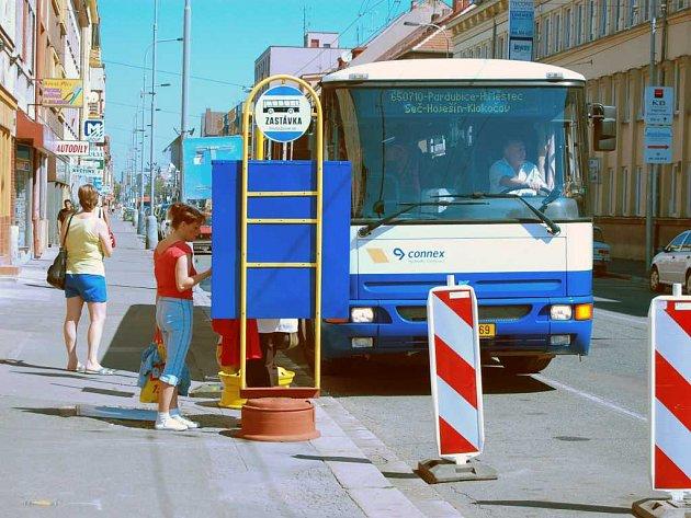 Rekonstrukce autobusové zastávky na Zborovského náměstí v Pardubicích