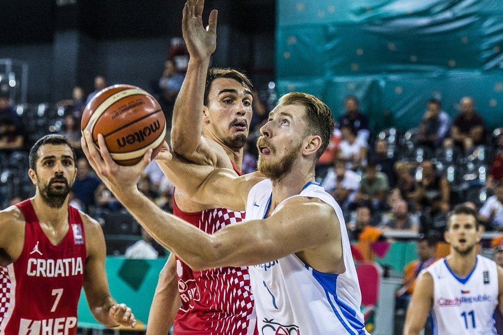 Z basketbalového duelu Česko - Chorvatsko na ME 2017.