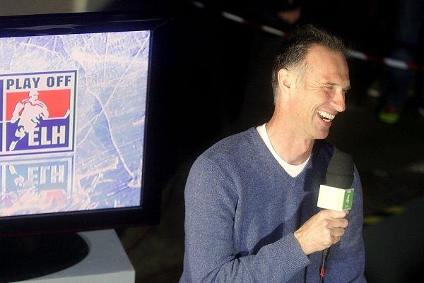 Dominik Hašek vTV studiu České televize