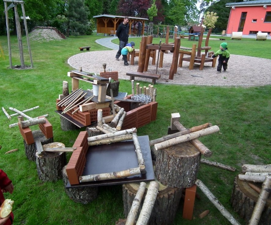 Nová zahrada školky v Rokytně