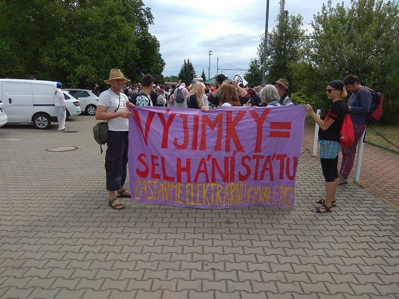 Protesty proti elektrárně ve Chvaleticích