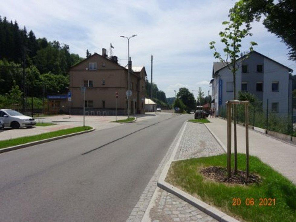 Jablonné nad Orlicí - Nádražní ulice, zvýšení podílu udržitelných forem dopravy