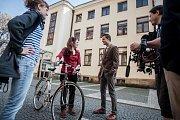 Natáčení propagačního klipu pro Malou scénu Východočeského divadla Pardubice.