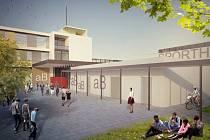 Nová hala v Lázních Bohdanči stavebně naváže na školní jídelnu.