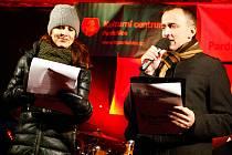 Osvědčená dvojice moderátorů Petra Beránková a Miroslav Hruban.