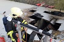 Úterní požár ve Chvaleticích