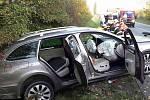 Nehoda dvou osobních aut u Holic, 15.10.2019