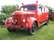 PRAGA RN z roku 1951 má vestavěný požární stroj BS 16 a stále je v dobrém stavu