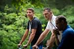 Lukáš Krpálek v Pardubicích. V parku Na Špici si budou moci návštěvníci zasportovat až do neděle.