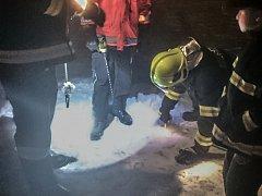 Měření síly ledu na Chrudimce