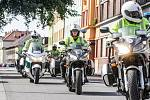 Policejní mototým v akci