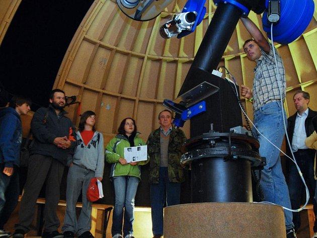 Noc vědců v pardubické hvězdárně